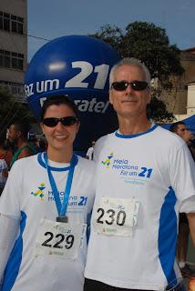 O casal Paula e Adilson Bordallos veio do Rio exclusivamente para participar da corrida de rua
