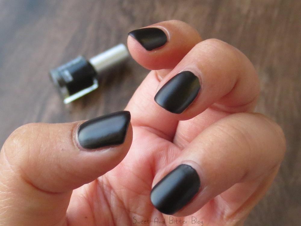 Colorbar Blackness - The Perfect Matte Black Nail Polish? | Sweet ...