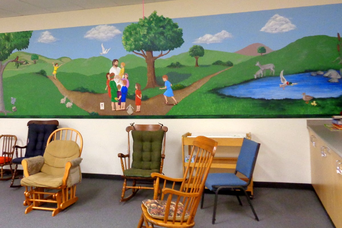 mural in the infant nursery