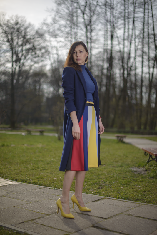 spódnica w paski fashionblogger
