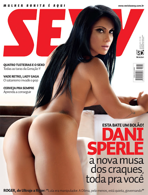 Confira as fotos da musa dos craques de futebol, Dani Sperle, capa da Sexy de agosto de 2011!