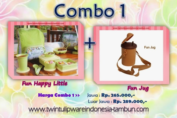 Promo Combo 1 Tulipware Tupperware - Pemilu 2014, Fun Happy Little, Fun Jug