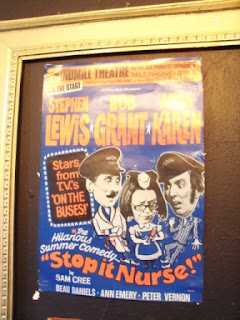 An old poster at the Adventure Golf course at Great Yarmouth's Windmill Theatre