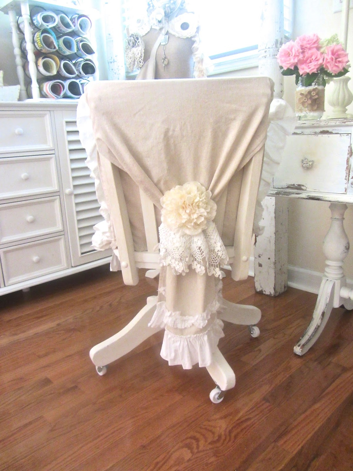 Junk Chic Cottage fice Chair Updo and a Sneak Peek at the new
