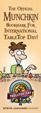 Munchkin Internation TableTop Day Bookmark!