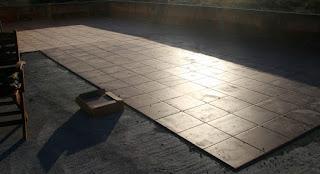 Good progress today on the balcony tiles