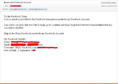 Cara Mengembalikan Akun Facebook Yang Dinonaktifkan / Disabled Account