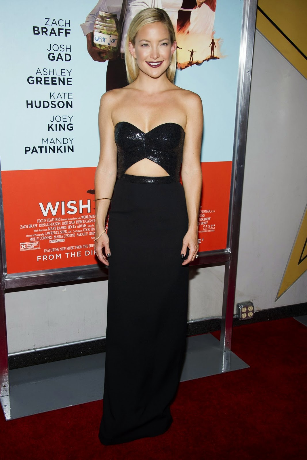 Kate Hudson in a strapless Michael Kors gown at the 'Wish I Was Here' NYC Screening