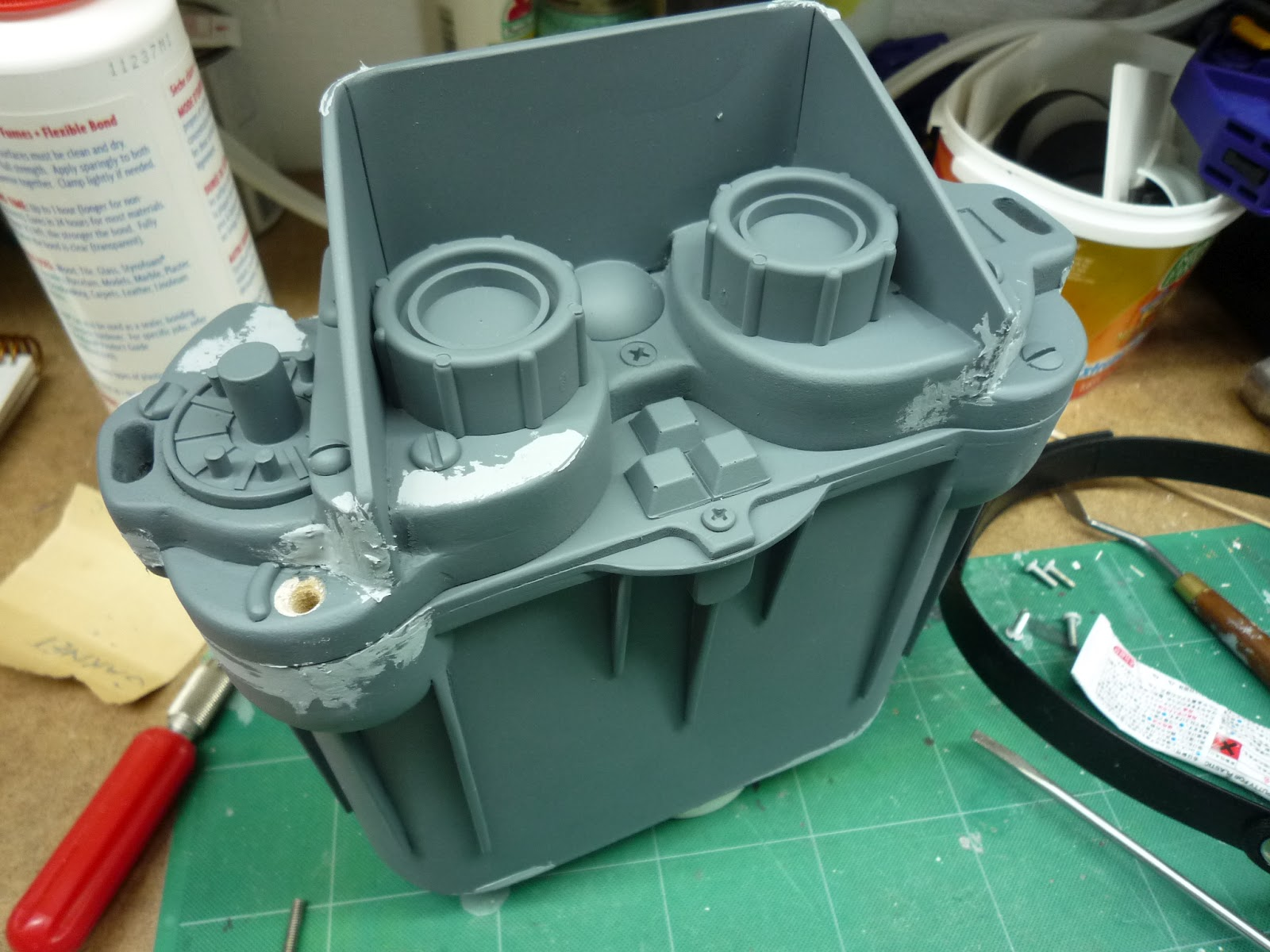 how to use tamiya polyester putty