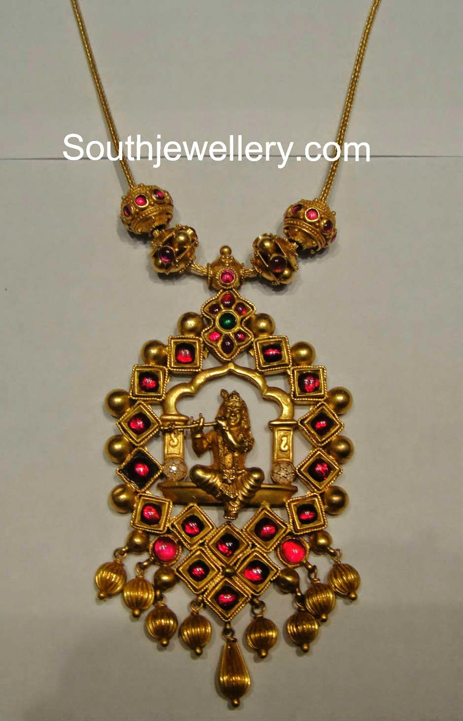 antique sri krishna pendant