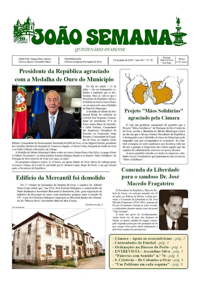 """Jornal """"JOÃO SEMANA"""" - Edição de 15 de julho de 2020"""