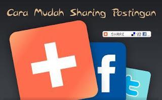 Cara Membuat Tombol Share Facebook, Twitter dan Google +