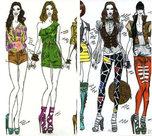 jerron couture fashion design illustration shorts leggins