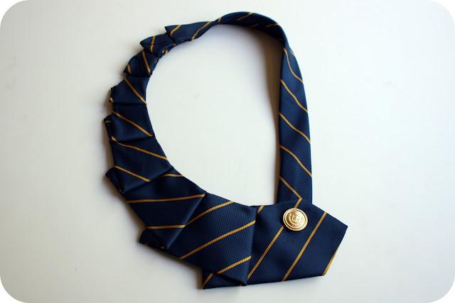 Мастер-класс - ожерелье из галстука . - Marina Marinina- я.ру