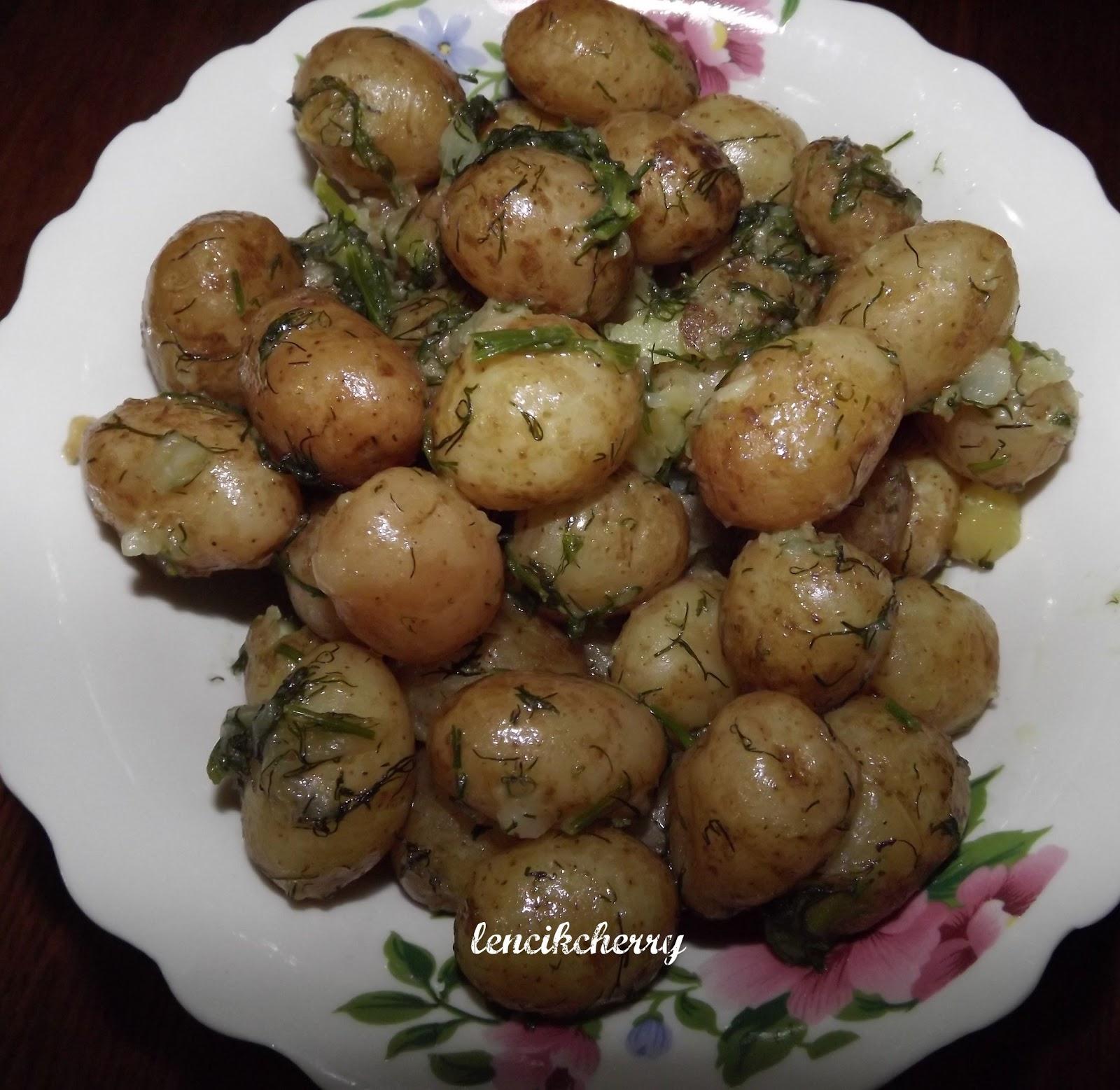 как приготовить вкусно мелкую молодую картошку