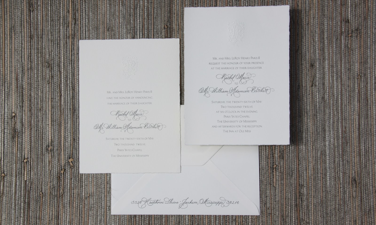 Wedding invitation posts fresh ink style sentiment stunning calligraphy was printed on imported italian paper for this invitation monicamarmolfo Image collections