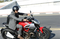 Ajith riding Ducati Photo