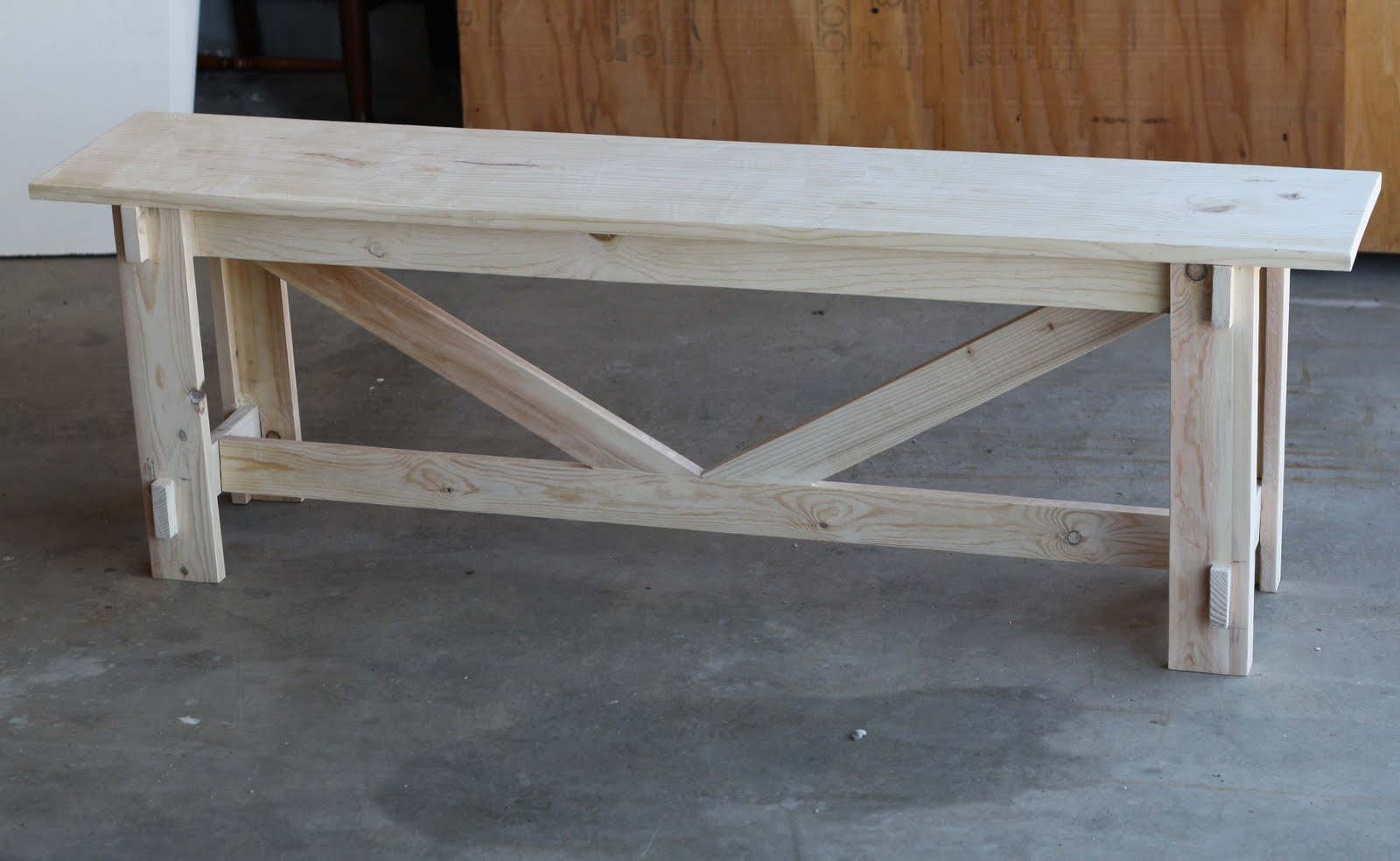 Wood Project Ideas Barn Wood Bench Plans