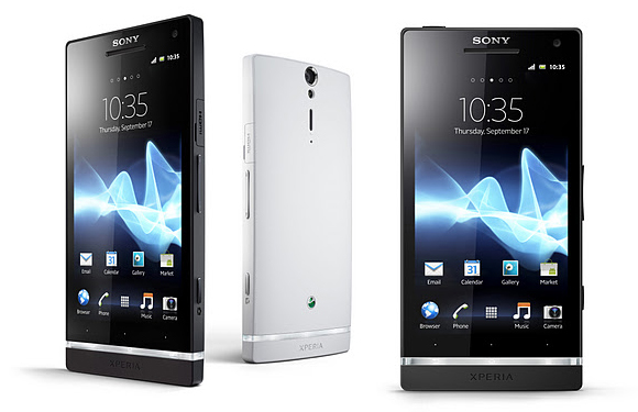 XperiaS White, Black &#8212; Official Picture