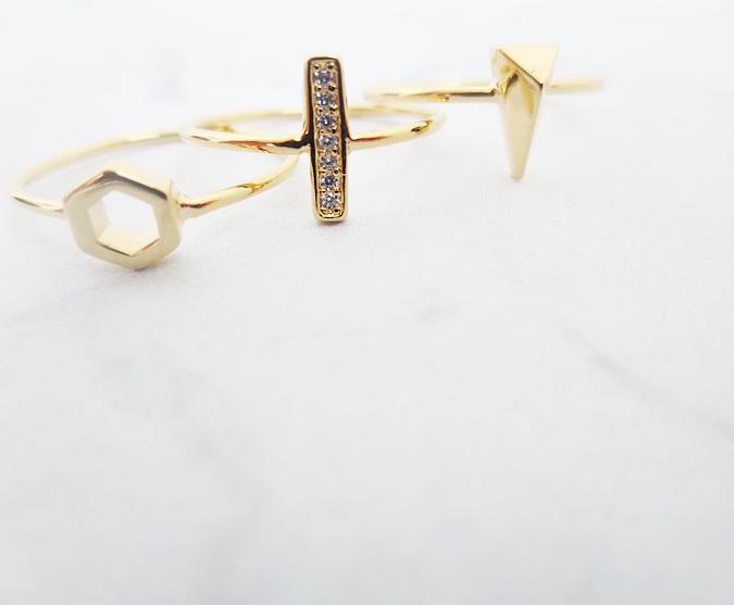 orelia minimalist geog ring pack