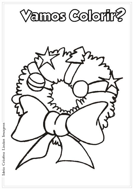 Guirlanda de Natal desenho para colorir