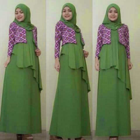 15 model baju muslim lebaran 2015 modis baju muslimah modern Baju gamis remaja lebaran 2015