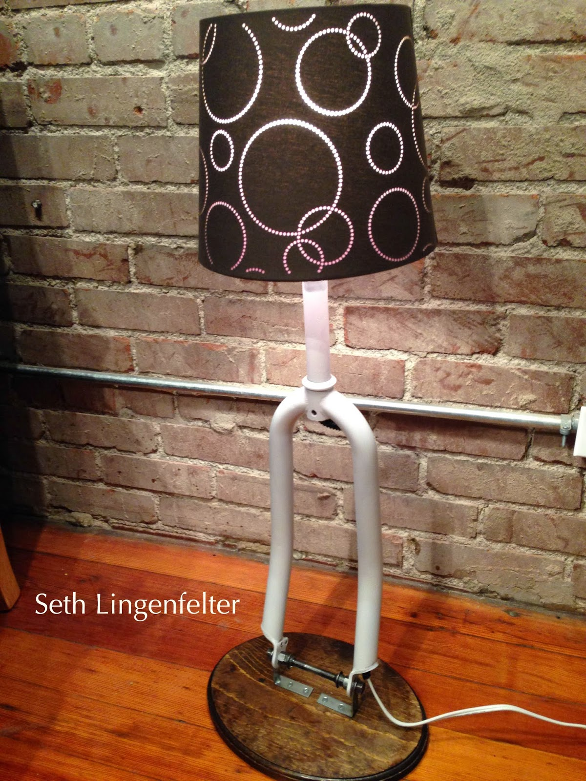 It\'s a good day Sir.: Bicycle Fork Lamp DIY