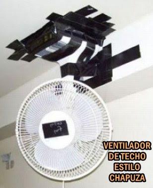 GRANDES INVENTOS(chapuzas)DE LA HUMANIDAD Chapuza-ventilador-techo-pegado