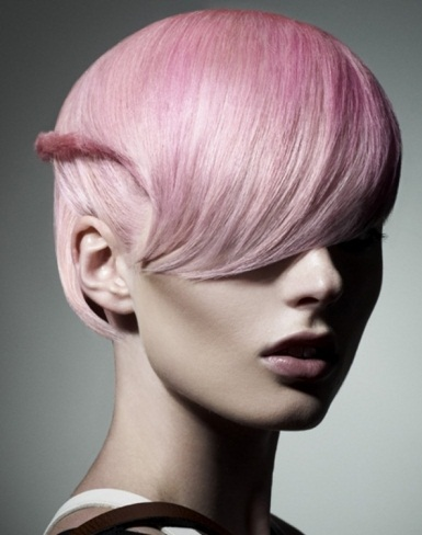 Platinum Blonde Hair With Pink Highlights 2014