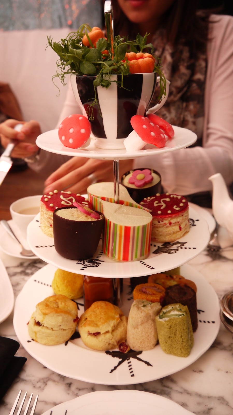 The Sanderson Afternoon tea Mad Hatters