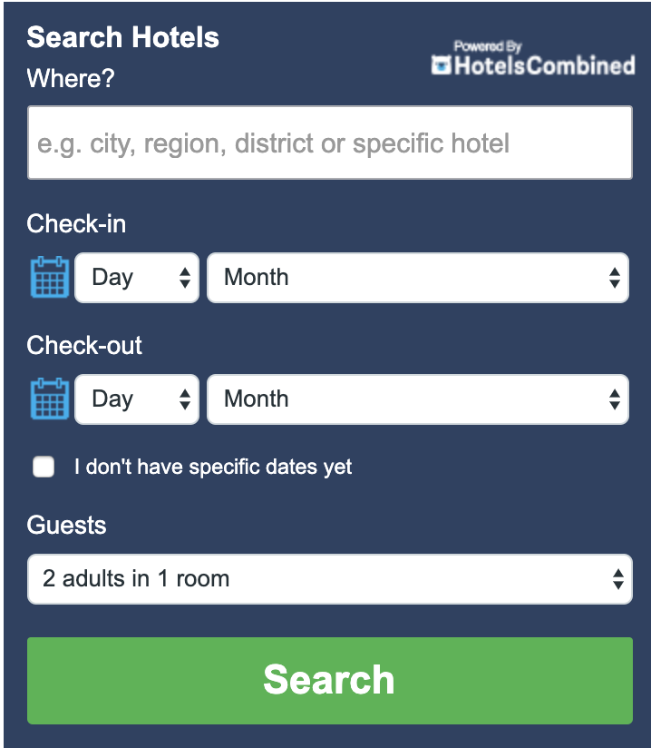 FIND YOUR CHEAPEST HOTEL