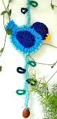 Enfeite de Porta: Passarinho Azul