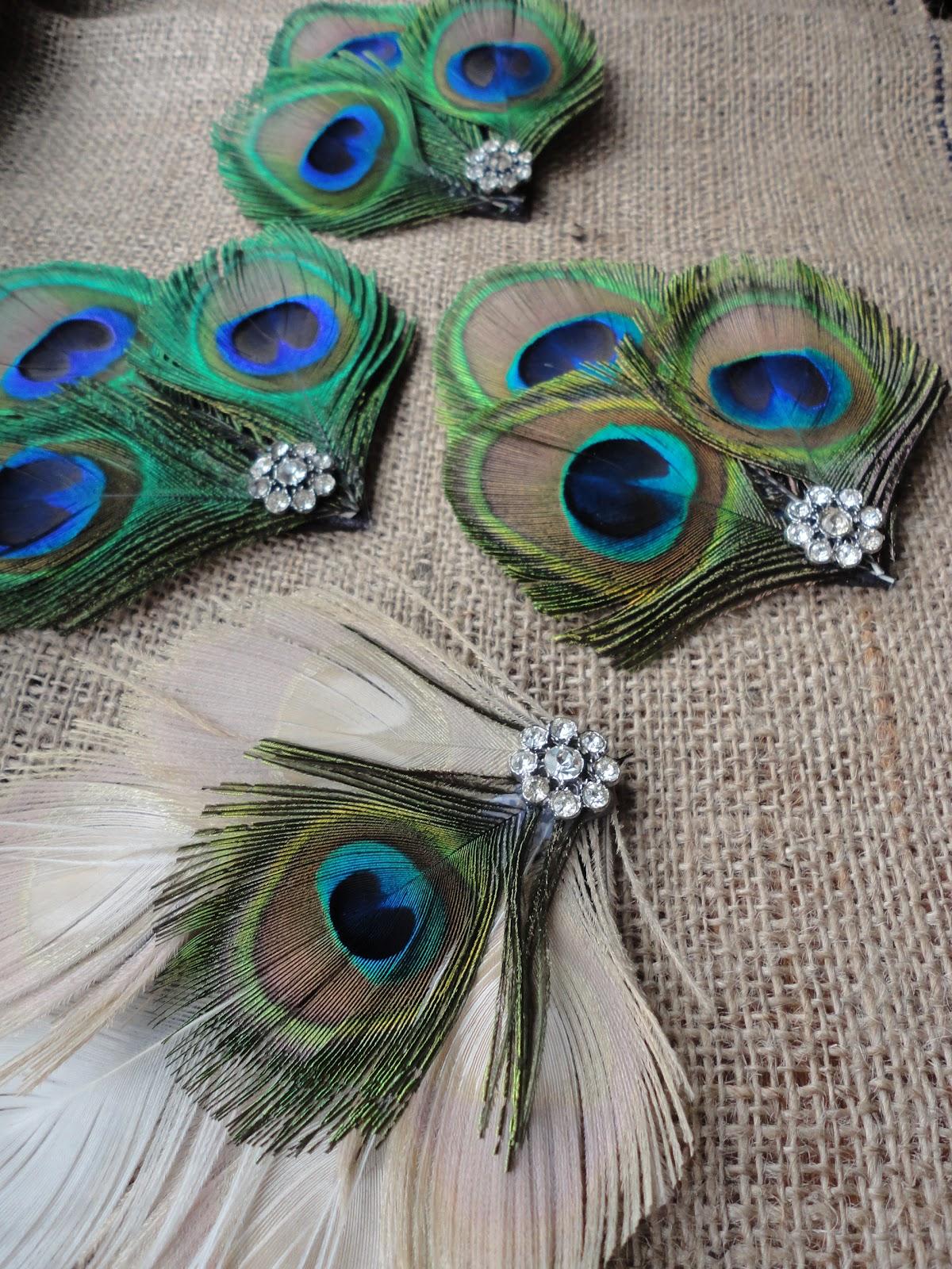 The Peacock Fairy Peacock Hair Clips For A Wedding