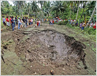 sink hole in Cebu