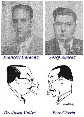 Francesc Cardona, Josep Almeda y las caricaturas del Dr. Josep Vallvé y Pere Cherta