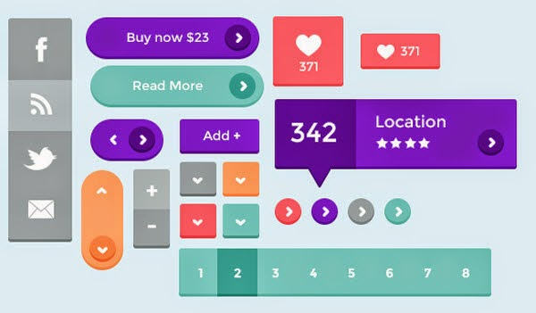 PSD websites & UI kits just for you