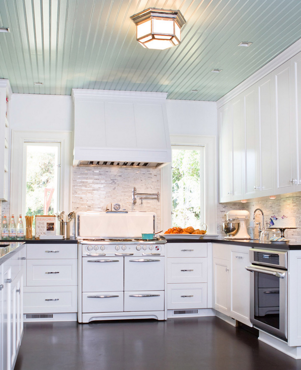 Tiffany Blue + White Traditional Kitchen | B.A.S Blog