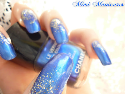 chanel bel-argus blue metallic loreal gold lurex
