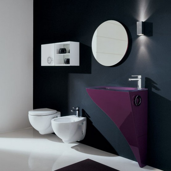 Fashion and interiors small modern bathrooms for Very modern bathrooms