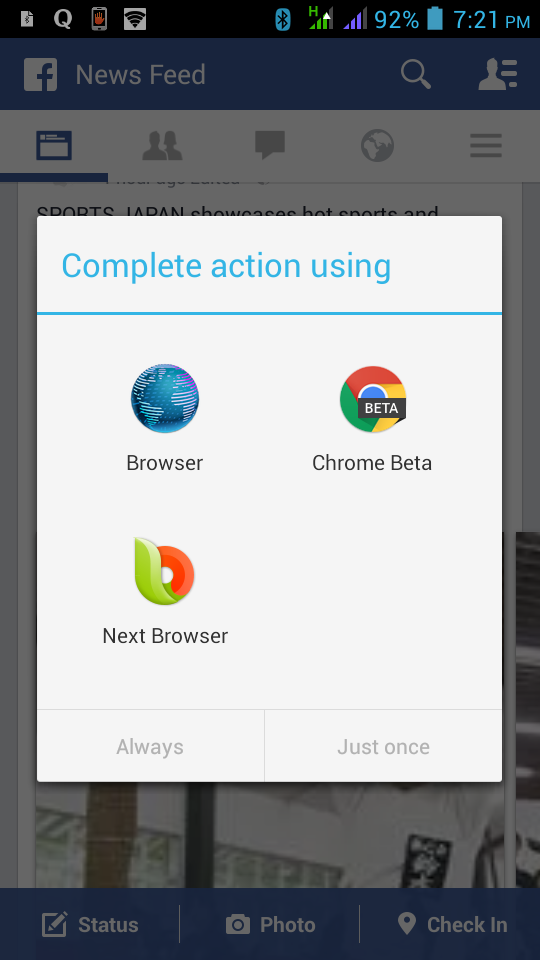Change Default App Android