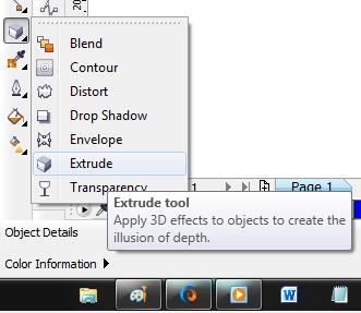 Lalu klik dan seret pada objek yang akan di beri Efek 3D, lihat di ...