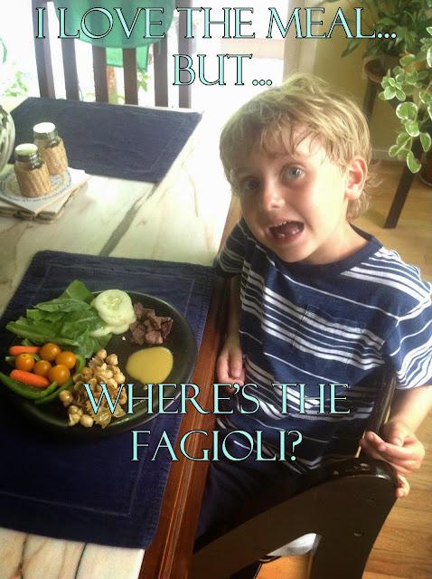 I love the meal... but where's the fagioli?