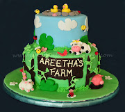 The little girl wanted a cake with farm animals on it, so after getting some .
