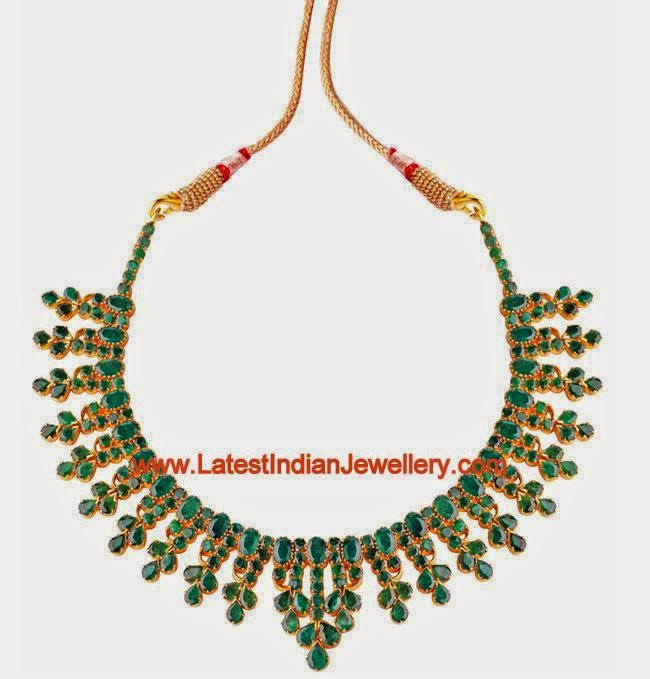 Emerald Gold Short Necklace