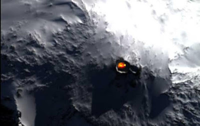 Vista del espacio del Monte Erebus