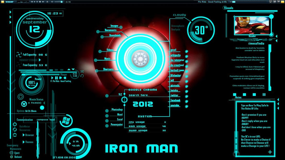 IronMan-Jarvis Theme Free Download
