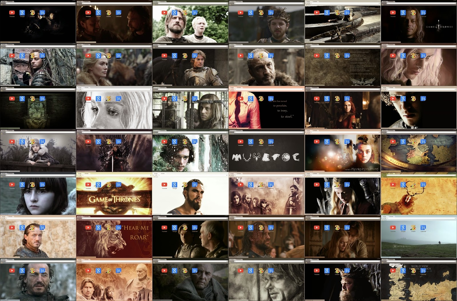 Google themes game of thrones - Download All 42 Game Of Thrones Chrome Themes By Gen Xavier