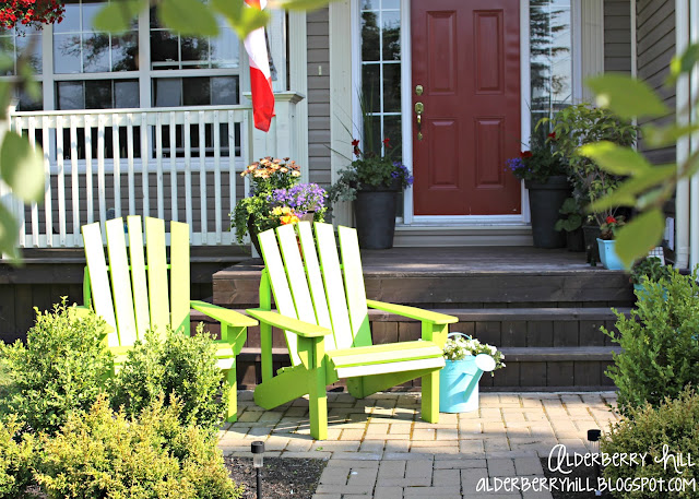 1 PM093 Im Lovin Lime Green Adirondack Chairs