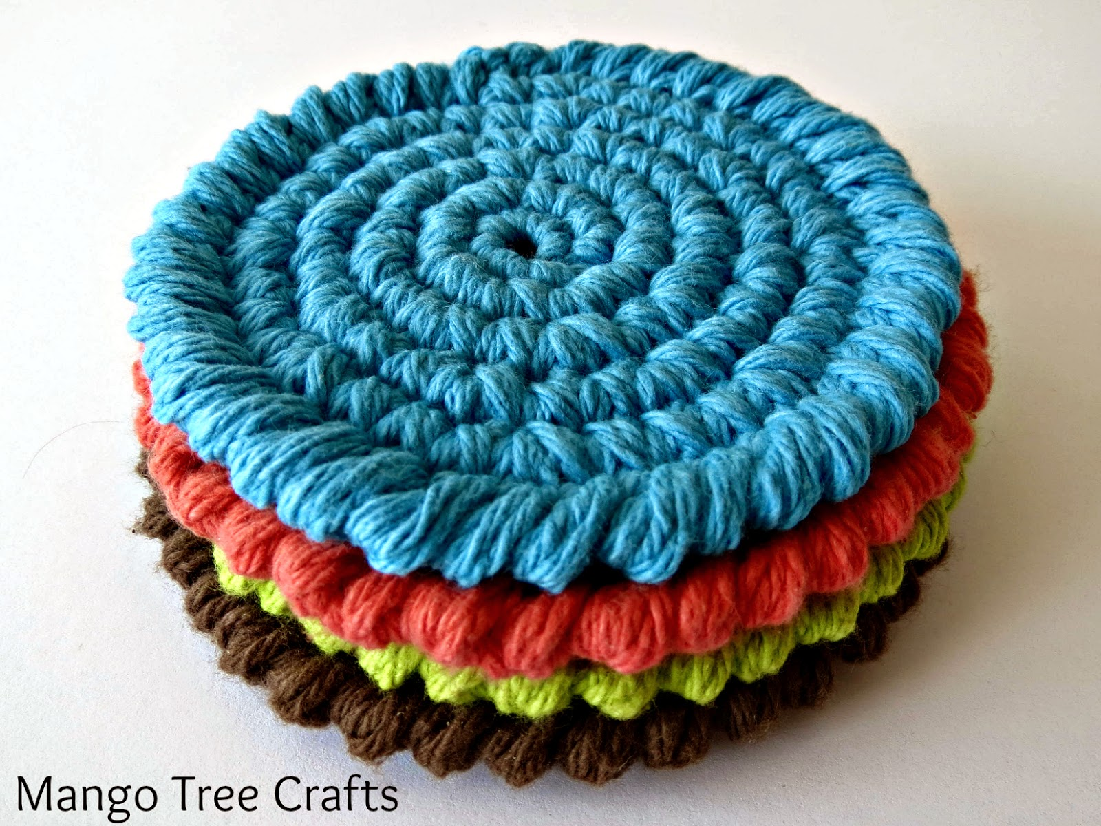 Mango Tree Crafts: Free Crochet Coasters Pattern