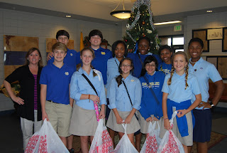 Montgomery Catholic Preparatory Middle School SGA Shops for the Angel Tree 1